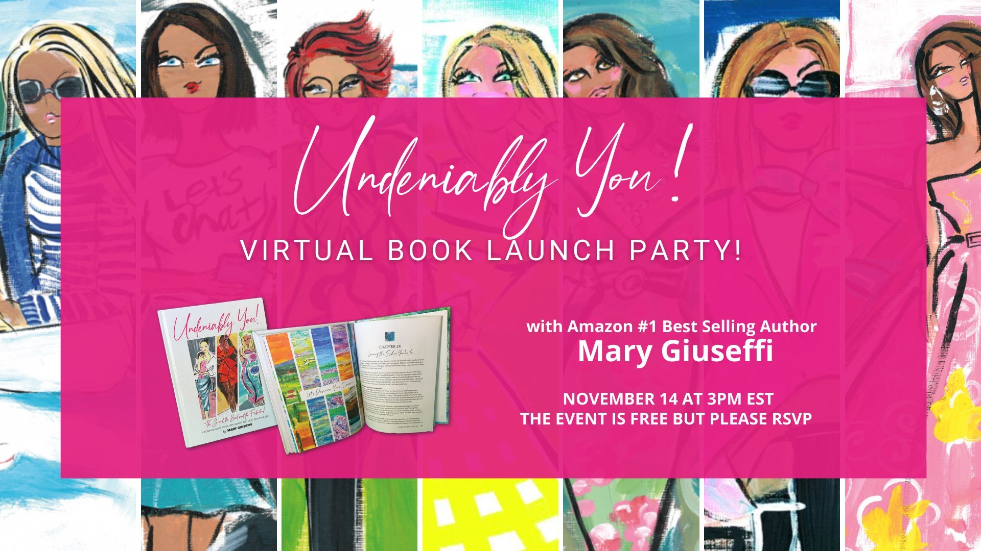Virtual Book Launch Party Undeniably You Mary Giuseffi